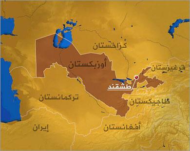 خارطة جمهوريات آسيا الوسطى
